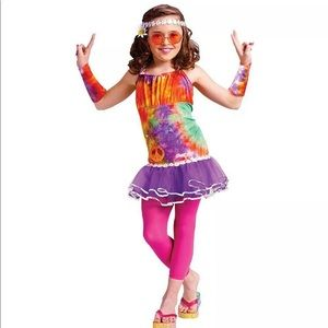 Little girls hippie Halloween costume small 4-6